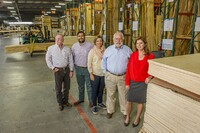 L-R: Sales Manager Rick Mosher; Carl A. (Carlos) Detering