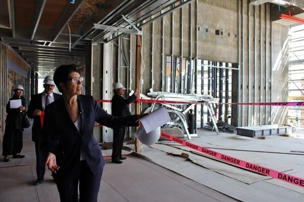 Elizabeth Diller gives a hardhat tour of the Broad in Los Angeles.