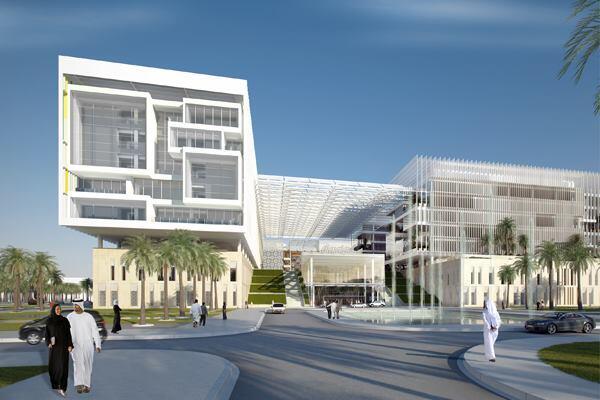 Sheikh Khalifa Medical City, Abu Dhabi, United Arab Emirates, by Skidmore, Owings & Merrill.