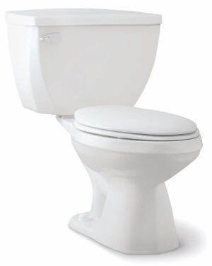 Gerber's Ultra Flush high-efficiency toilet uses only 1.1 gallons of water per flush and can decrease a homeowner's yearly water expenditure by 40 percent, the company says. Using the standard water supply, the unit pressurizes the air inside the tank and