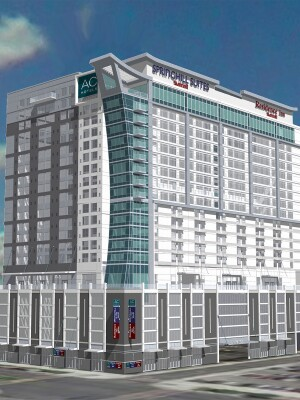 When complete, Marriott's Nashville hotel will contain three separate brands, each for a different style of traveler.