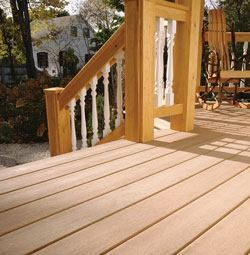 Polypropylene-wood decking by CorrectDeck