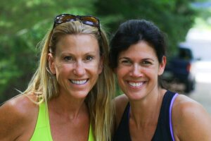 Cindy Freedman (left) and Ailene Tisser founded SwimAngelfish.