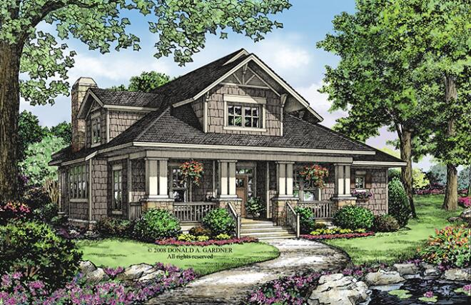 4 House Plans With a Touch of Craftsman Style