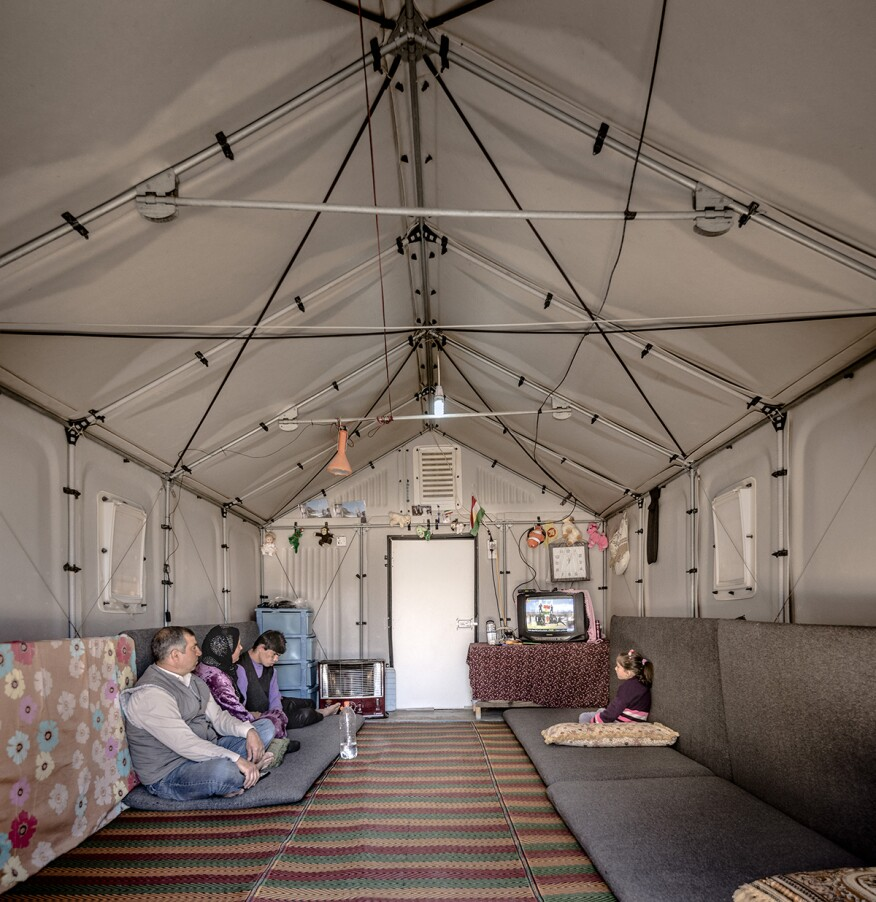 Better Shelter prototype in Kawergosk Refugee Camp in Erbil, Iraq (2015)