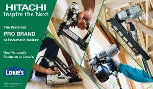 the image sent with the loweshitachi press release focuses on the pneumatics home depot