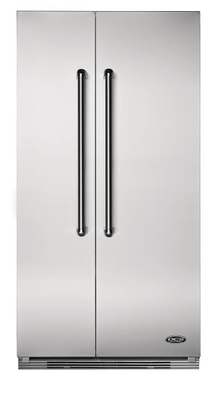 Fisher and Paykel.  The DCS 36-inch side-by-side built-in refrigerator includes a tri-sensor control system that regulates the temperatures of the freezer and fresh food compartments. The Energy Starrated refrigerator features hidden hinges and flush installation for a clean appearance. The refrigerator has a capacity of 13.5 cubic feet and the freezer offers 8 cubic feet. 888.936.7872. www.dcsappliances.com.