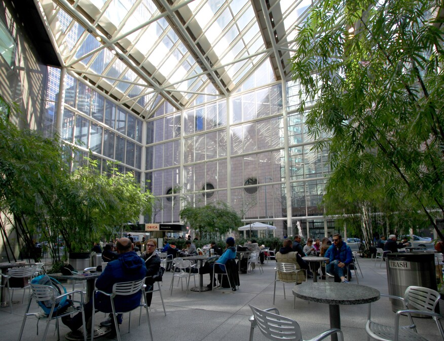The atrium of the IBM Building