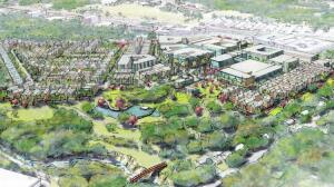 A rendering of the controversial Grove at Shore Creek development, which has met with resistance from local residents.