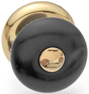 Azucena Door Hardware   Ebano  Ebony and polished brass knob