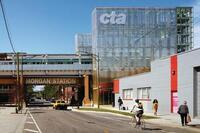 CTA Morgan Street Station, Designed by Ross Barney Architects