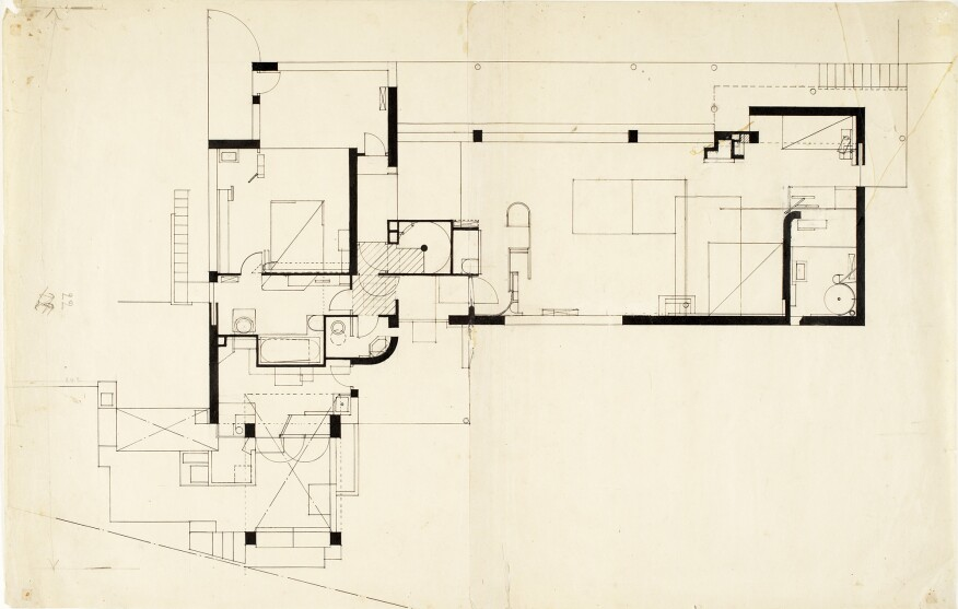 E1027 ground floor plan