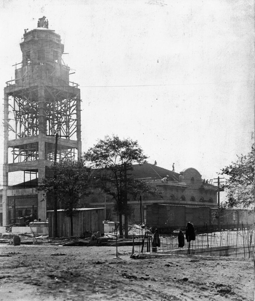 Terminal Station under construction, 1906.