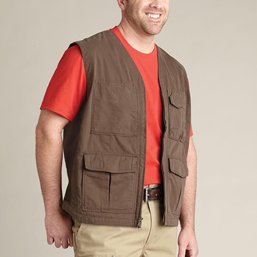 The Duluth Men's Lightweight Working Man's Utility Vest 82014 can do double duty, carrying gear on the job and serving as a lightweight vest after hours.