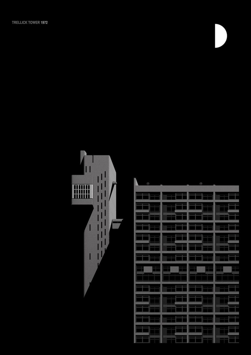Hungarian architect Erno Goldfinger based his design for this 1972 residential tower on London's Balfron Tower.