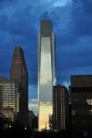 Robert A.M. Stern Architects completed the Comcast Center in Philadelphia in 2008.