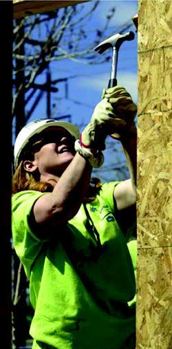 FOR WOMEN, BY WOMEN: Construction crews on Habitat for Humanity Women Build sites go through extensive construction safety training before and during projects.