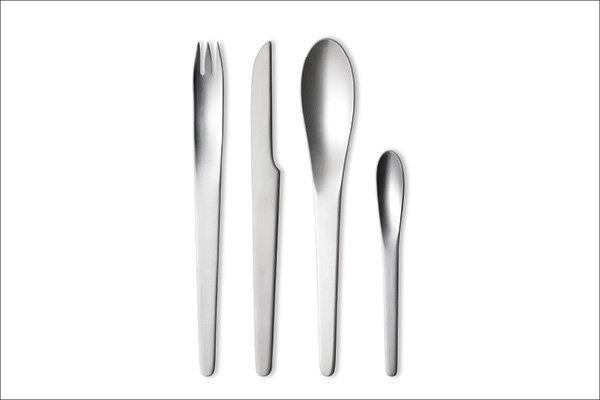 "Cutlery. When Chong helps clients select cutlery, he gravitates to collections by the late Danish designer Arne Jacobsen, such as his eponymous 1957 matte stainless steel flatware for Georg Jensen. ""Pieces of the kitchen also become part of your home,"" he says."