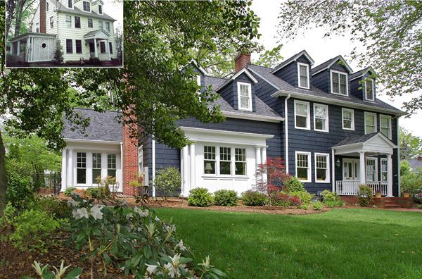Modern family transforms colonial home remodeling gtm for Colonial home additions