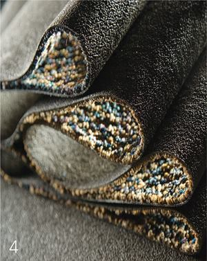 Unibound U2Lees Carpetswww.leescarpets.com  Can be recycled back into itself through Lees Carpet's ReCover Carpet Recycling Program    Contains 18 percent pre-consumer recycled content    Made with are newable bio-based resin, allowing the company to cut petrochemical use by 50 percent