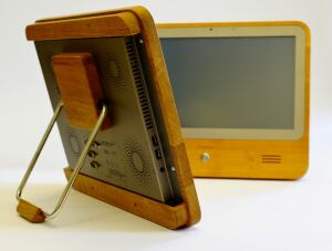 A new wood-based touch-screen computer.