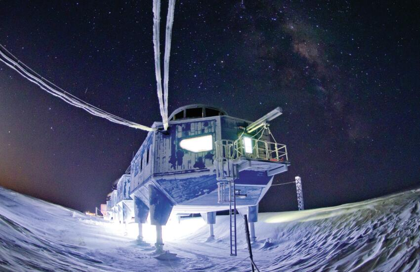 The Halley VI station on the Antartic ice sheet, designed by Hugh Broughton Architects