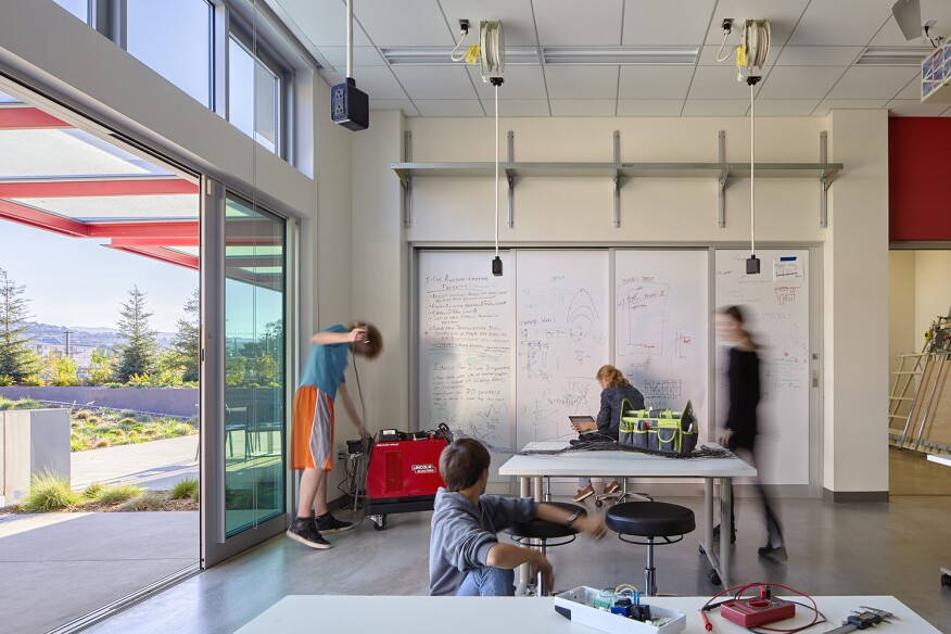 Nueva Upper School, by Leddy Maytum Stacy Architects - Classroom.