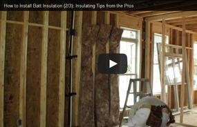 Video Series - Part 2: Insulating Tips from the Pros