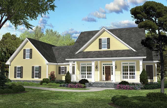 Fourplans outstanding new homes under 2 500 sq ft for 2 story farmhouse