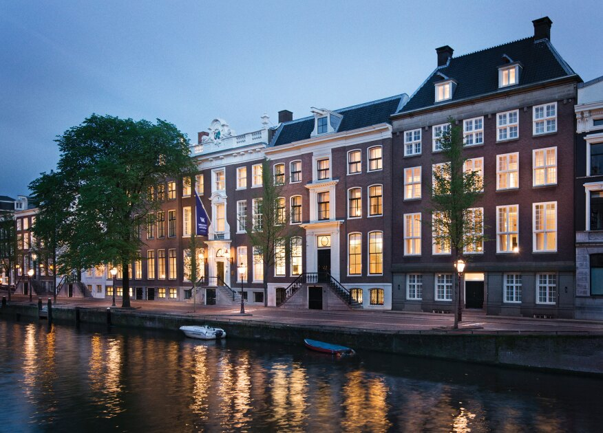 The Waldorf Astoria Amsterdam occupies six contiguous 17th- and 18th-century grand houses on the Herengracht canal.