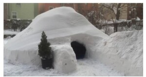 An igloo for two with a Brooklyn view.