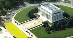 More than 14,000 pavers were placed between the Lincoln Memorial and the Lincoln Memorial Reflecting Pool.