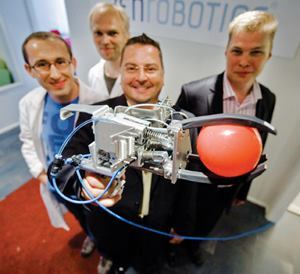 Researchers from Finnish technology firm ZenRobotics Ltd. have created the Recycler, a robot that automates the process of sorting recyclables from a waste stream. Photo: ZenRobotics