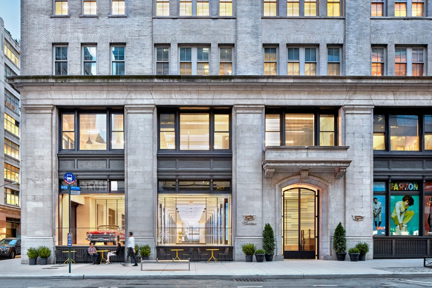 "New York City's Hudson Square neighborhood serves as the home for Cadillac's new 12,000-square-foot storefront ""experience center."""