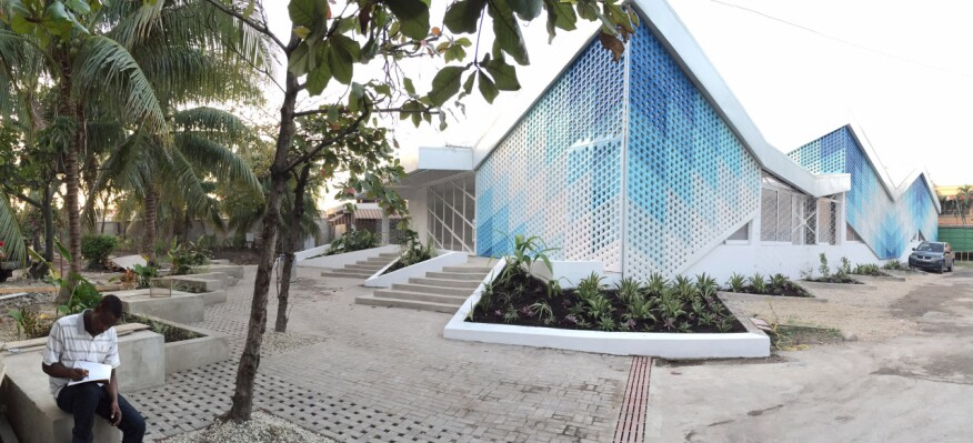 Gheskio Cholera Treatment Center in Port-au-Prince, Haiti, by MASS Design Group.2014.