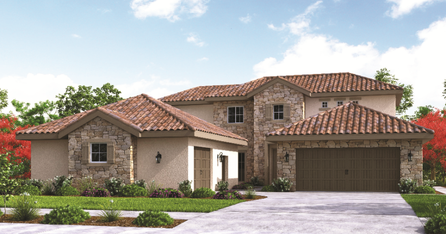 SJV Homes recently opened San Marino, its newest community in California's Central Valley. Homes there feature details such as keystone entryways, full-height stone veneers, concrete tile roofs, courtyards, hand-textured walls, and and maple cabinetry.