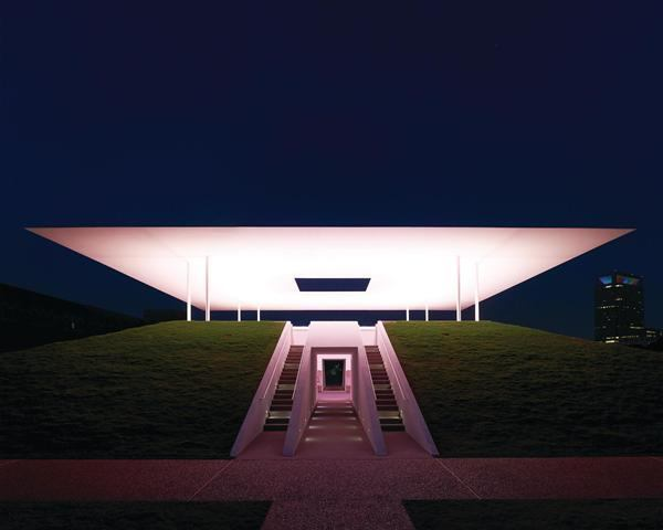 "James Turrell, ""Twilight Epiphany,"" 2012. Houston sky space."