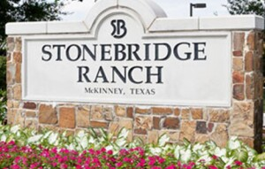 The entrance sign to Stonebridge Ranch, where Melton Ridge will be located.