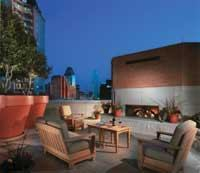 LUXURY LIFE: The Ashton, named the High-Rise Project of the Year, brought many condo-style amenities and features to the Dallas market, including a rooftop view of the city's skyline. Colors also ruled the competition, including the Fiesta House (below), awarded the prize for Senior Project of the Year.