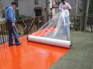 G476 self-adhered waterproofing membrane  Sika Sarnafilsarnafilus.com  Vinyl waterproofing membrane with a non-permeable, closed-cell foam backing layer coated with pressure-sensitive adhesive - Conforms to minor irregularities in the substrate