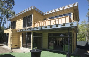 STANFORD, CA.,—JUNE 23, 2016,—A new 3,200 square foot custom home using a patented light steel frame building technology and integrated process for Stanford Professor of Climate and Clean Energy Mark Jacobson. This is BONE Structure's first California net zero-energy home.  ( Norbert von der Groeben / Daily News )