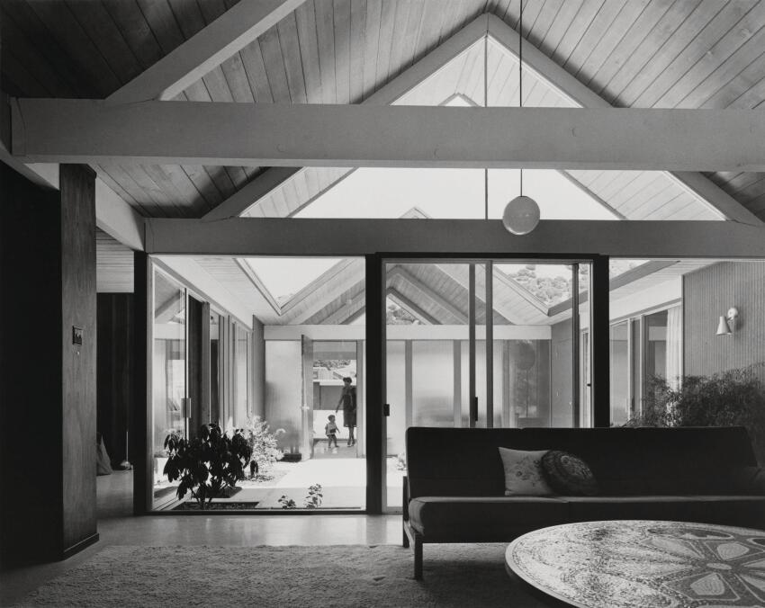 An Eichler in Lucas Valley, Calif., in the early 1960s.