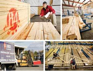 GOING BEYOND SELLING STICKS: 84 Lumber has found that serving bigger dealers involves more than simply delivering truckloads of 2x4s. It seeks to help builders receive goods in the most cost-efficient manner possible. 84 also has expanded from turnkey framing into a wide range of installed sales programs, and it continues to create such components as trusses and wall panels.