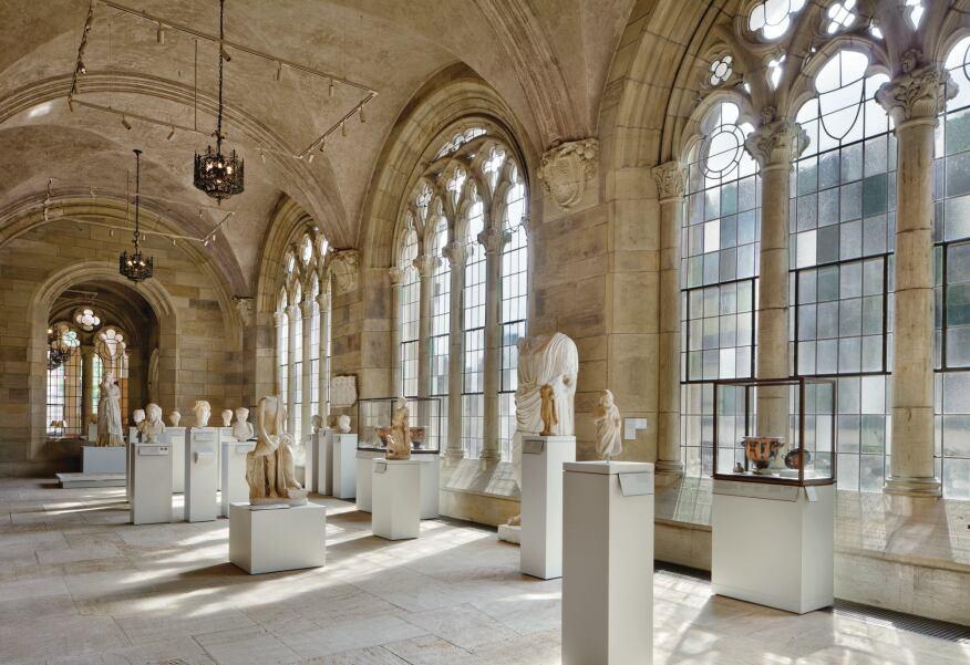 Ancient art sculpture hall.