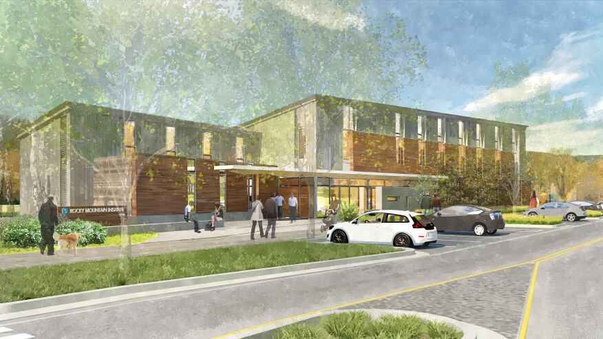 Rendering of RMI's Innovation Center, in Basalt, Colo., which broke ground on Oct. 14, 2014.