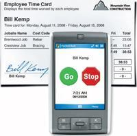 The PocketClock/GPS from Exaktime allows employers to track when employees clock in and out from a jobsite.