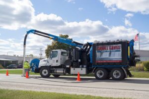 The Camel 1200 sewer cleaner wastewater recycling system