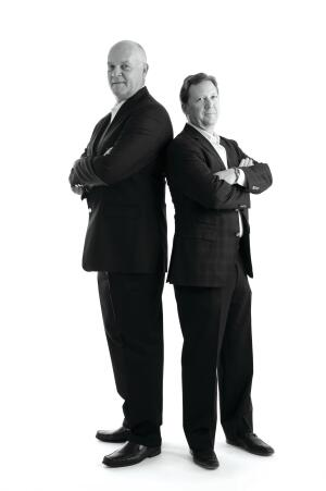 Todd Ullom (right) and Gary Hartogh, partners, Couture Lifestyle Homes