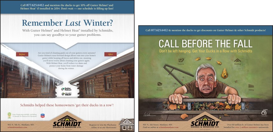 Advertisement for replacement contractor's winter work