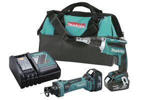 Makita 18-Volt XT255M 18V LXT Drywall Install Kit
